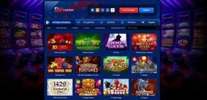 Раздел игровых автоматов в казино RV.